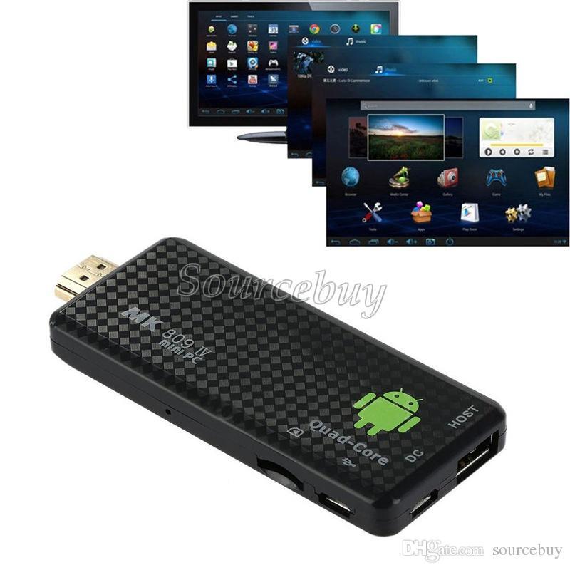 Il più recente! Android 4.4 Mini PC quad-core RK3128 Google Bluetooth ROM TV Stick MK809IV 1 GB di RAM 8GB di Wifi HDMI TV Dongle