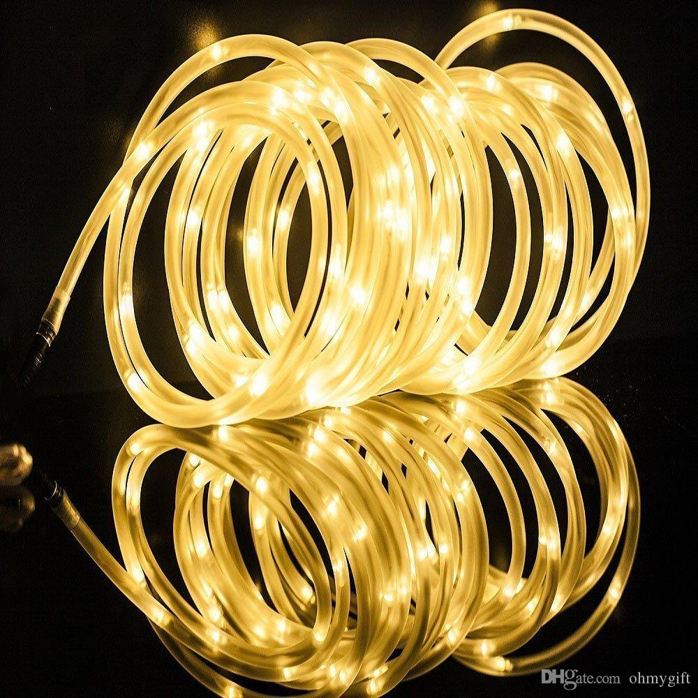 LED Dimmable Rope Lights, 6m 60 LEDs Waterproof 8 Modes, Battery Powered, Strip Lights for Garden Patio Party Christmas