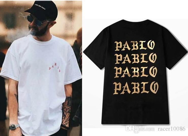 Compre Ropa De Marca I Feel Like Pablo Camiseta Kanye West Hombres  Camisetas Monopatín De Manga Corta Hip Hop Streetwear Camisetas Negro  Blanco A  14.21 Del ... a3b82ce1526