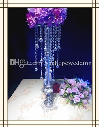 en yeni ürün! Uzun akrilik çiçek standları düğün zemin standı centerpieces düğün dekorasyon