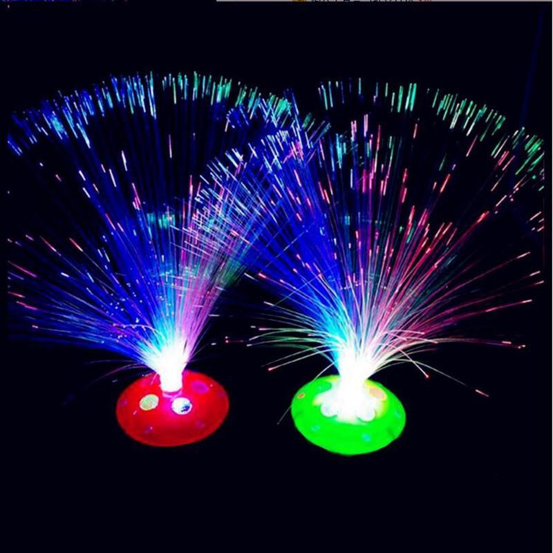 Grosshandel Bunte Blinkende Fiber Blume Leuchtende Faser Licht Lampe