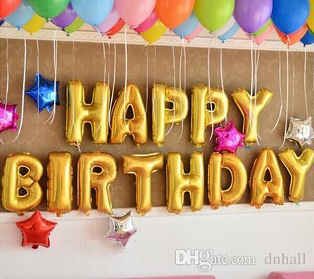 2018 16 Inch English Alphabet Balloon Set Birthday Party Happy ...