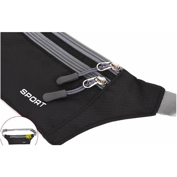 Men Women Fashion Designer Waist Purse Belt Bag Super Thin Fanny Pack Money Hip Bum Bags Jogging Fishing Cycling Cell Phone Waist Bag
