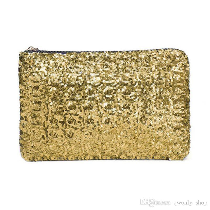 Ladies Party Black Silver Gold Sequin Glitter Bling Evening Clutch Bag Handbag Women's Bags & Handbags