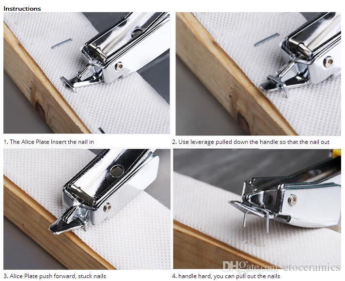 Profesjonalne zszywki do usuwania paznokci ściągacz z gumową uchwyt multitool narzędzia ręczne Ferramentas Herramientas