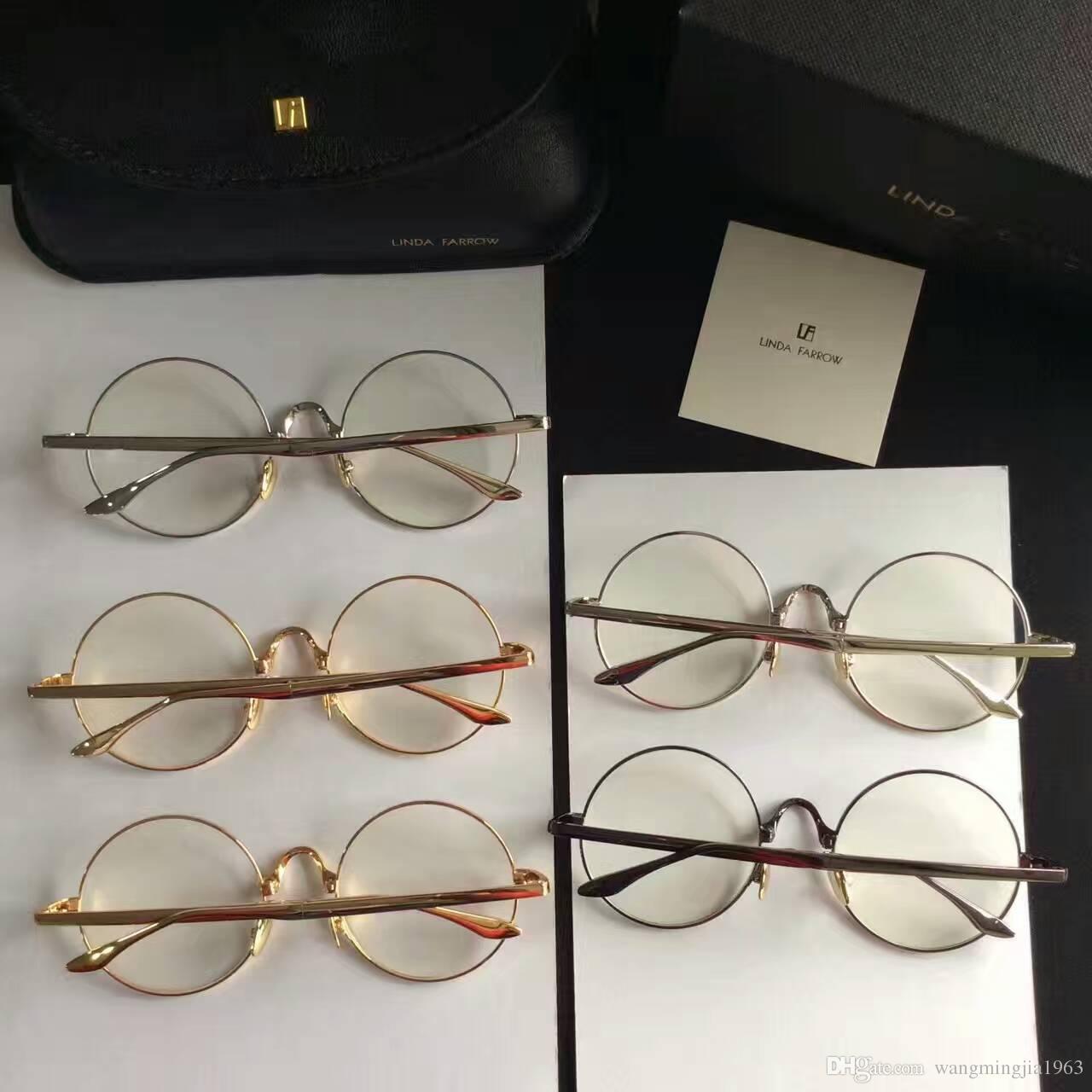 d7cbd5a25743 2017 New Sunglasses LINDA FARROW Gafas De Sol Sunglass Square Frame ...