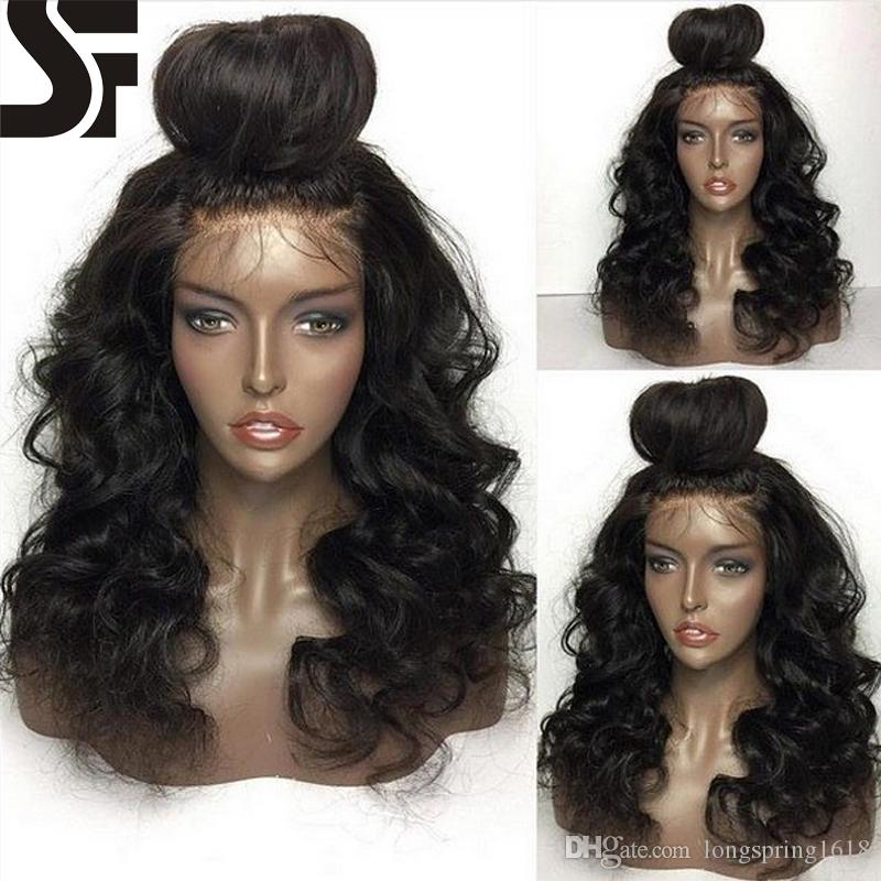Half Bun Lace Front Human Hair Wigs Baby Hair 9A Grade 100% Brazilian  Virgin Hair Full Lace Wigs For Black Women With Natural Hairline Wig Beauty  Human Wigs ... b6f1db371