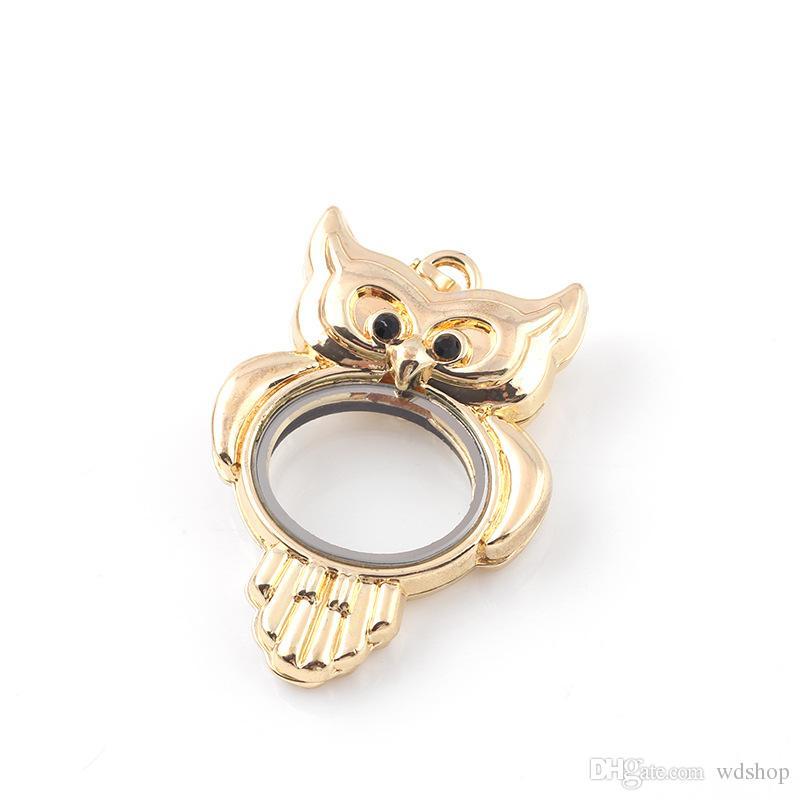 Vintage Owl Locket Necklace Pendant Stylish Bohemian Floating Locket Necklace Pendant For Women