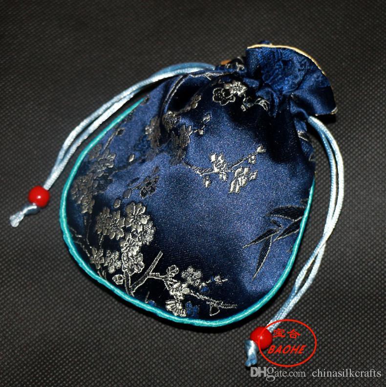 Сгущает Cotton Заполненный Малый шелковый Brocade мешок Drawstring Упаковка для подарков ювелирных изделий Аксессуар Crafts чехол для хранения Wedding благосклонности партии сумки