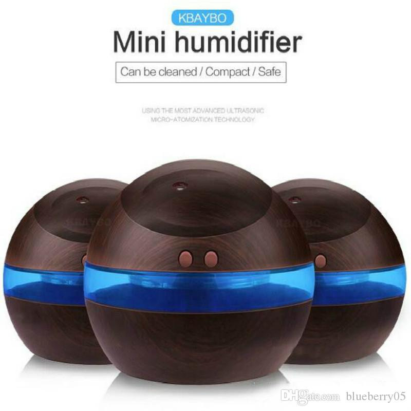 HOT 300ml USB Plug Ultrasonic Humidifier Aroma Diffuser Diffuser Mist Maker With Blue LED Light