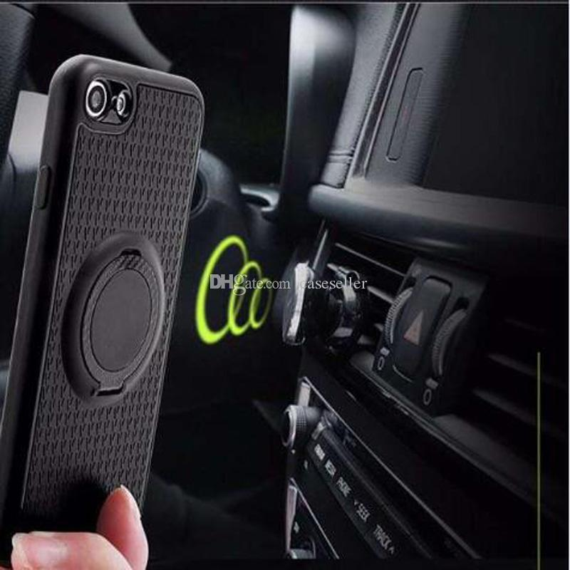 Multi-purpose Car bracket Phone TPU Hybrid Case With Stander Case For iPhone 7 Pus 6 6S Samsung S8 Plus A3 A5 A7 2017