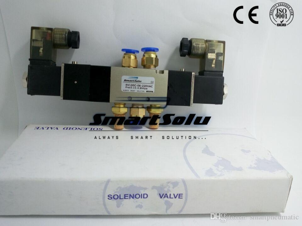solenoid air valve 4V130C-06 Double coil Port 1/8
