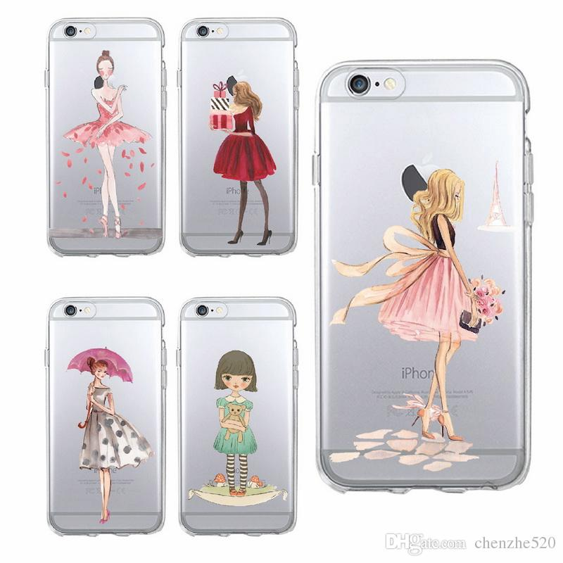 phone cases for iphone 8 8plus x 7 7plus 7 6 6plus 5 soft tpuphone cases for iphone 8 8plus x 7 7plus 7 6 6plus 5 soft tpu transparent modern sexy girls cartoon pattern case cover designer cell phone cases leather