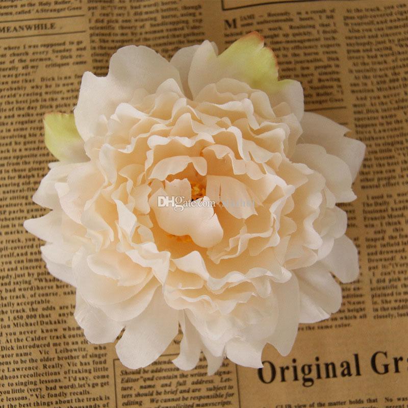 인공 꽃 실크 모란 머리 파티 웨딩 장식 용품 시뮬레이션 가짜 꽃 머리 장식 WX-C09