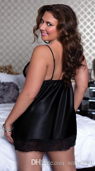 Lingerie quente Plus Size Sexy Vestido de Noite Sexy Roupas Set Sexy Costumes Pijamas Para As Mulheres