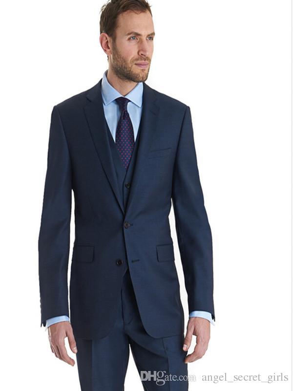 Latest Men's Suits Fashion Design Groom Tuxedo Three Pieces Notch Lapel Suits Man Formal Party suits jacket+pants+vest