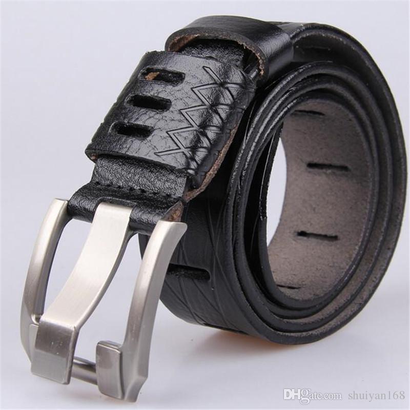 Cinturones de diseñador para hombre para pantalones de traje y jeans Accesorios de cinturón de cuero genuino hueco de excelente calidad clásico DHL gratis