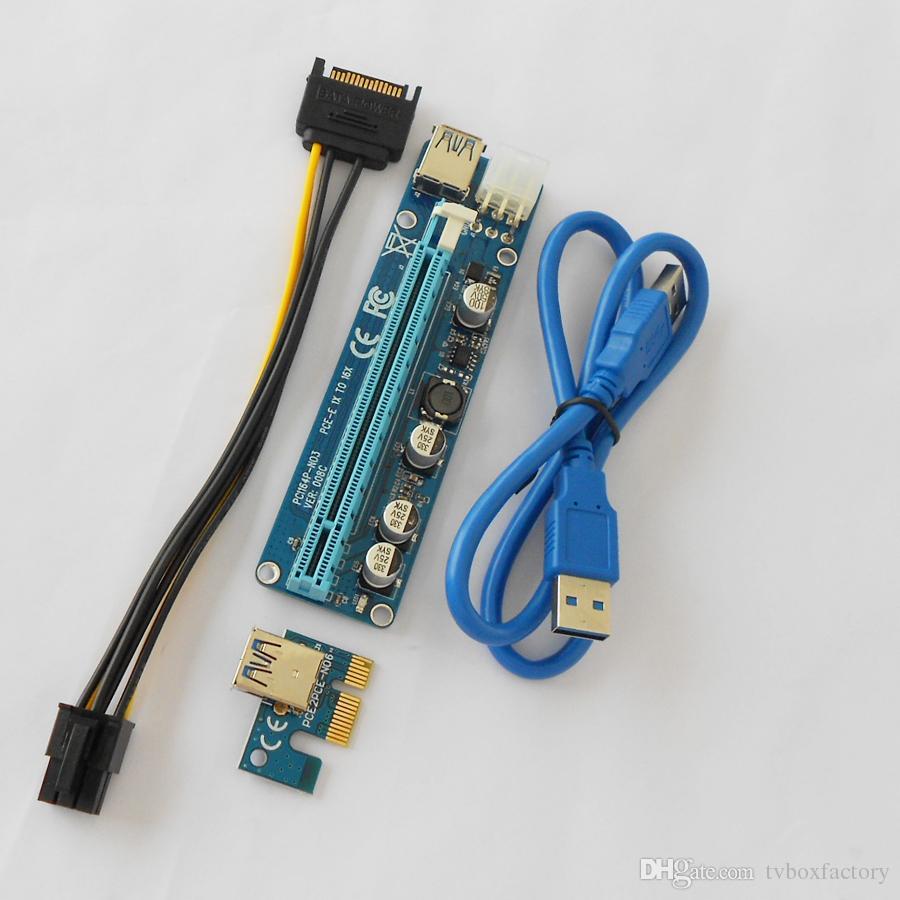 For Btc Ver 008c 60cm Usb 3.ie Riser Card Pci E Express 1x To 16x ...