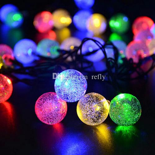 30 leds lights party xmas solar led christmas lights led strings light lamp solar string bulbs waterproof 65m led light string bedroom string lights from