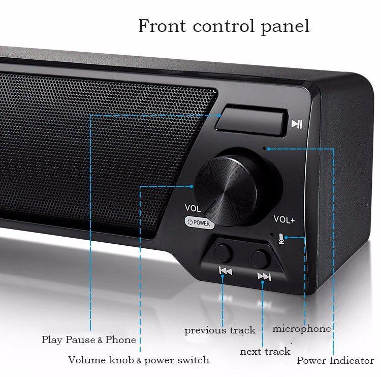 큰 전력 10W 고음질 휴대용 무선 블루투스 스피커 스테레오 사운드 TF FM 라디오 우퍼 열 Kalonki에 대한 컴퓨터 노트북