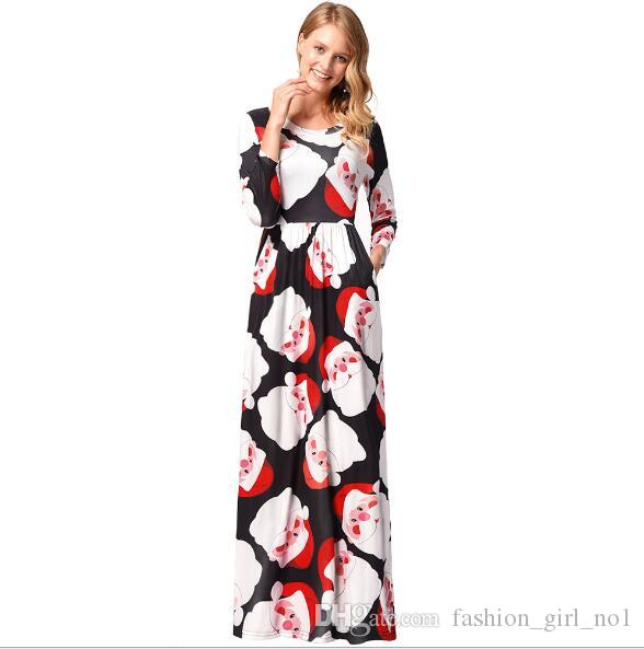 Fashion Women Lady Christmas Dress Clothes Ladies Christmas Costume Girl  Long Sleeves Casual Dresses Womens Clothing Dress Designers Plus Size Maxi  Dress ... 9ccc59769