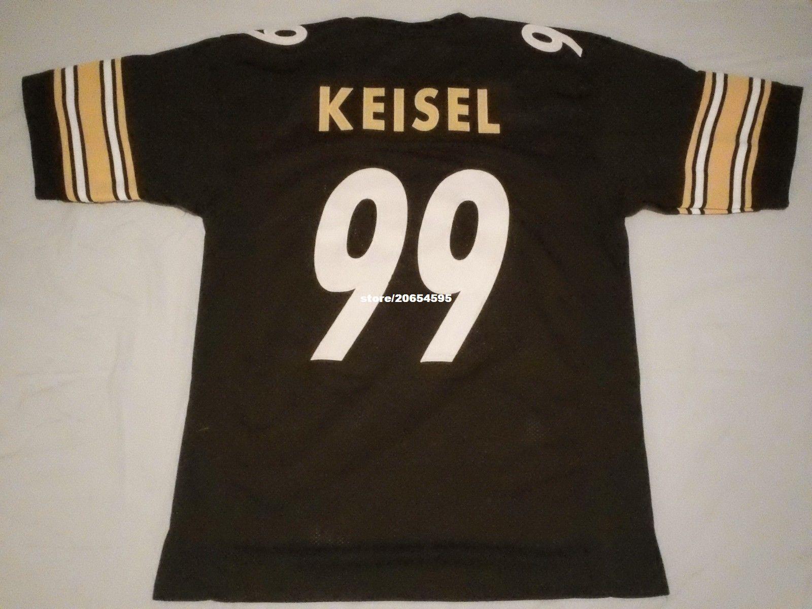 94ed679e9 ... 2017 Cheap Retro Custom Sewn Stitched 99 Brett Keisel Black Jersey  Throwback MenS Football Jerseys From ...