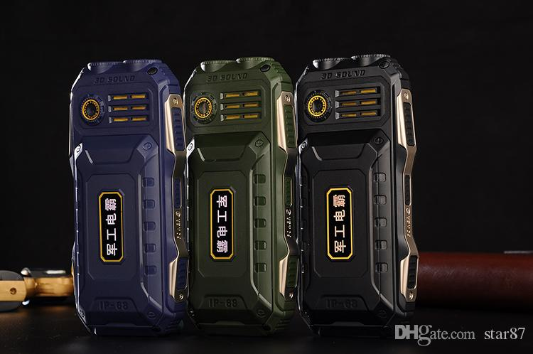 DHL Free New Unlocked Flashlight Dustproof shockproof old man mobile phone 16800mAh Dual sim card Torch Long Standby Power Bank cell Phone