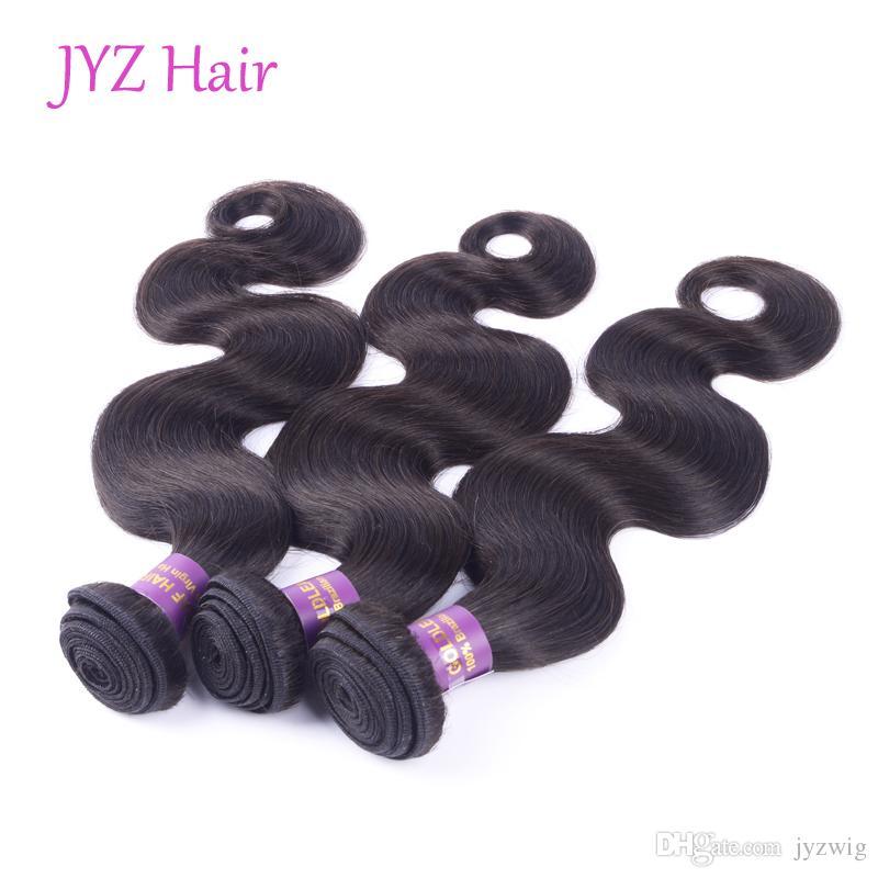 Pelo virginal indio con la onda del cuerpo del closing La armadura del pelo humano empaqueta la onda india del pelo del indio del pelo con el cierre del cordón