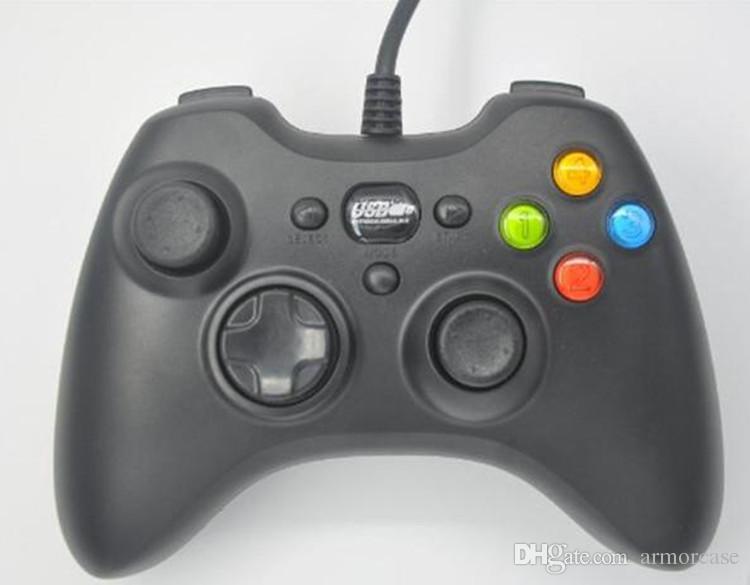 USB провод игровой контроллер Xbox 360 геймпад черный ПК XBOX360 джойстик джойстик Vlbration Ugame XBOX360 аксессуары для портативных ПК горячая