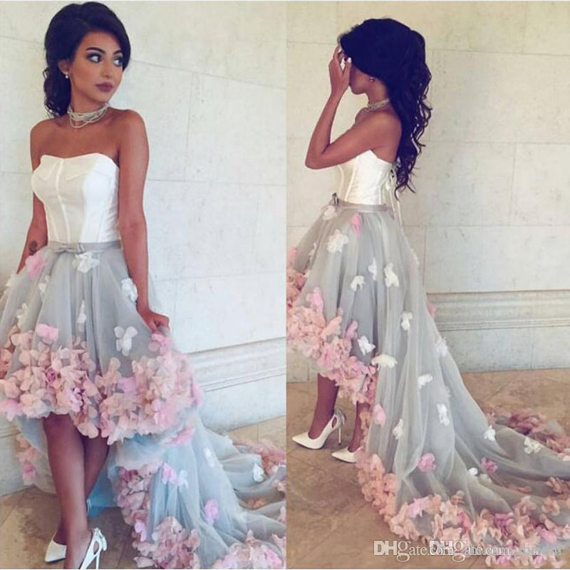 High Front And Low Back Prom Dresses Gowns 2017 Sweetheart Neckline ...