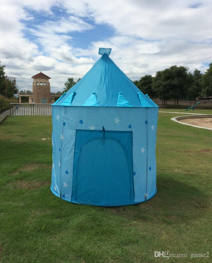 Ultralarge Children Beach Tent, Baby Toy Play Game House, Kids Princess Prince Castle Indoor Outdoor Toys Children tents Christmas Gifts ou