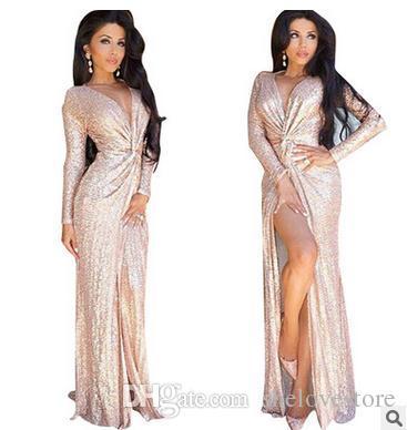 Gold twist front maxi dress
