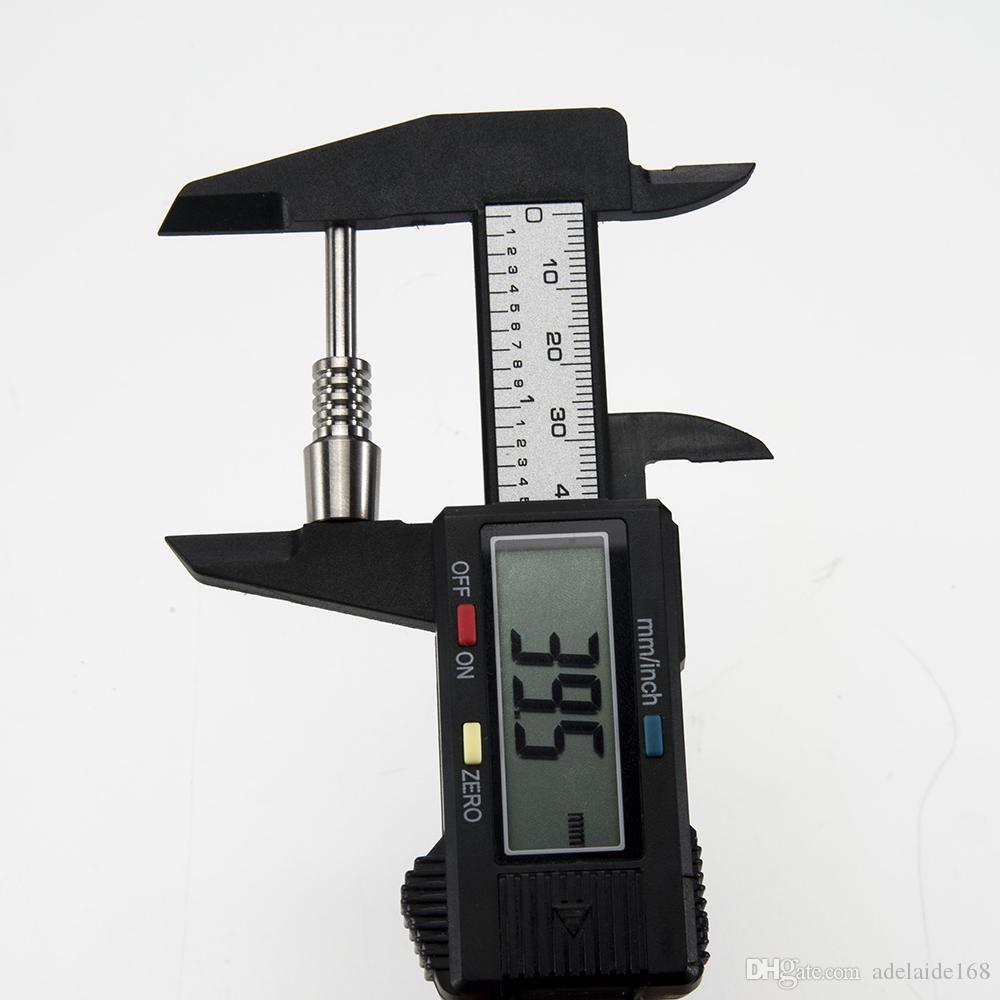 10mm punta in titanio nettare punta colletto in titanio unghie maschio giunto micro NC Kit invertito chiodi lunghezza 40mm Ti chiodo punte narghilè DHL 198