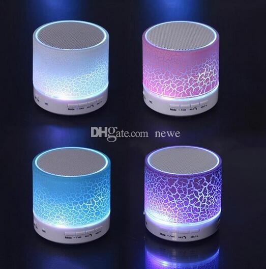 A9 Smart LED Light Crack Mini Wireless Bluetooth Speaker Portable Bluetooth Stereo Speaker Support TF Card/USB Flash Drive/FM