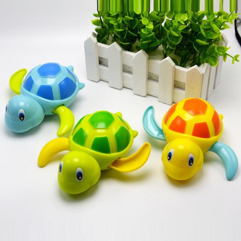 bebês nascidos nadar tartaruga cadeia ferida-up pequeno animal do bebê crianças brinquedos de banho brinquedo clássico piscina jogar banho brinquedo