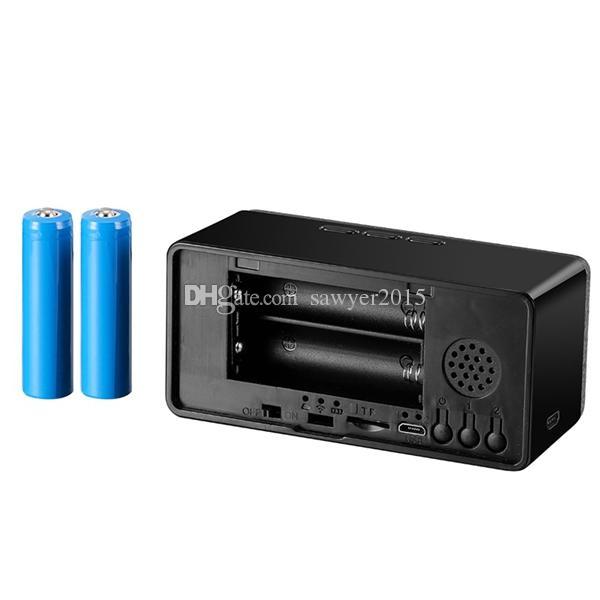 Télécommande réveil MINI caméra HD 1080 P vision nocturne IR Horloge MINI DV DVR caméra Accueil Sécurité Caméras de surveillance