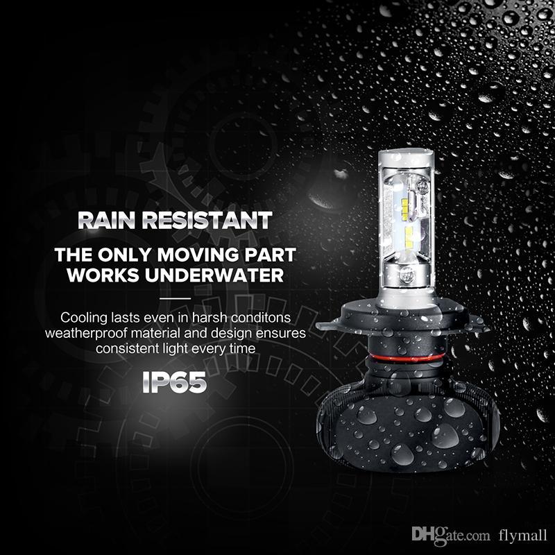 H7 9005/HB3 9006/HB4 H4 Led Car Bulbs 6500K White CSP Chips 50W 4000lm*2 Auto LED Headlight Kits Fan-less H11 Fog Lamps All-in-one