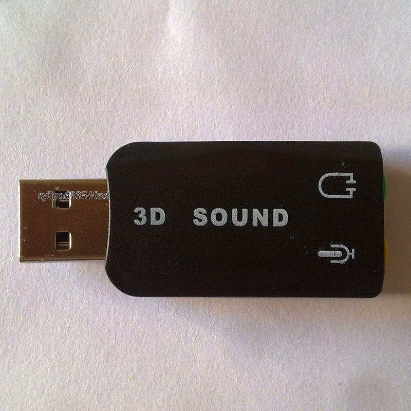 USB 2.0 zu 3D Mic Lautsprecher Audio Headset Soundkarte Adapter 5.1 für PC Laptop Neue Ankunft