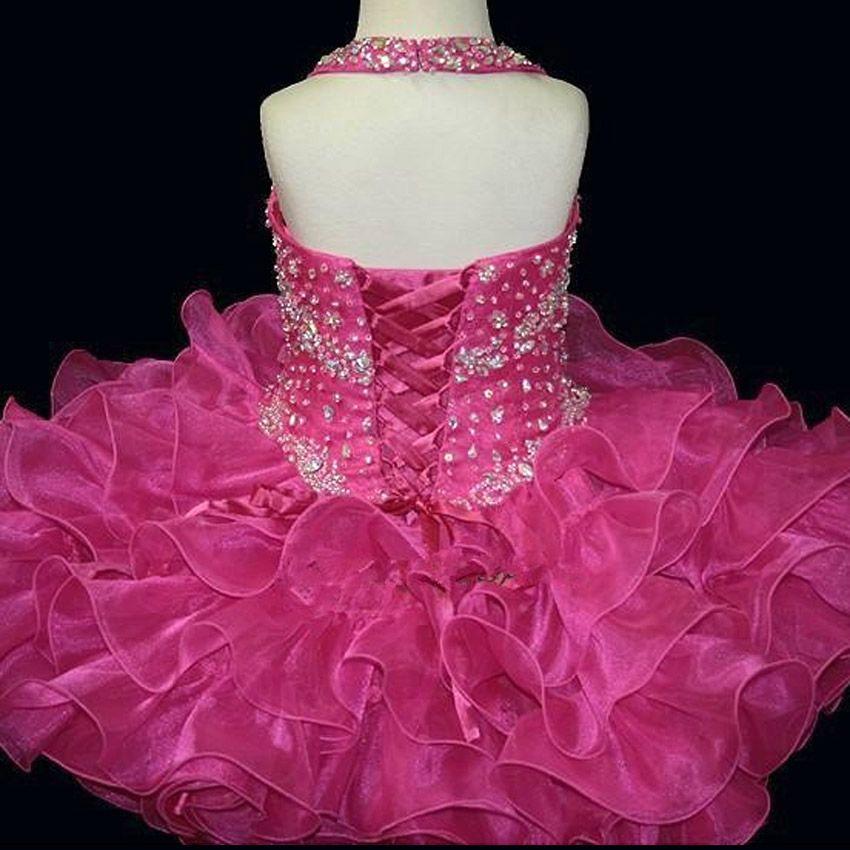 Hot Sale 2017 New Bling Bling Yellower Flower Girl Dresses Girl Party Dress Kids Evening Gowns Cheap In Stock