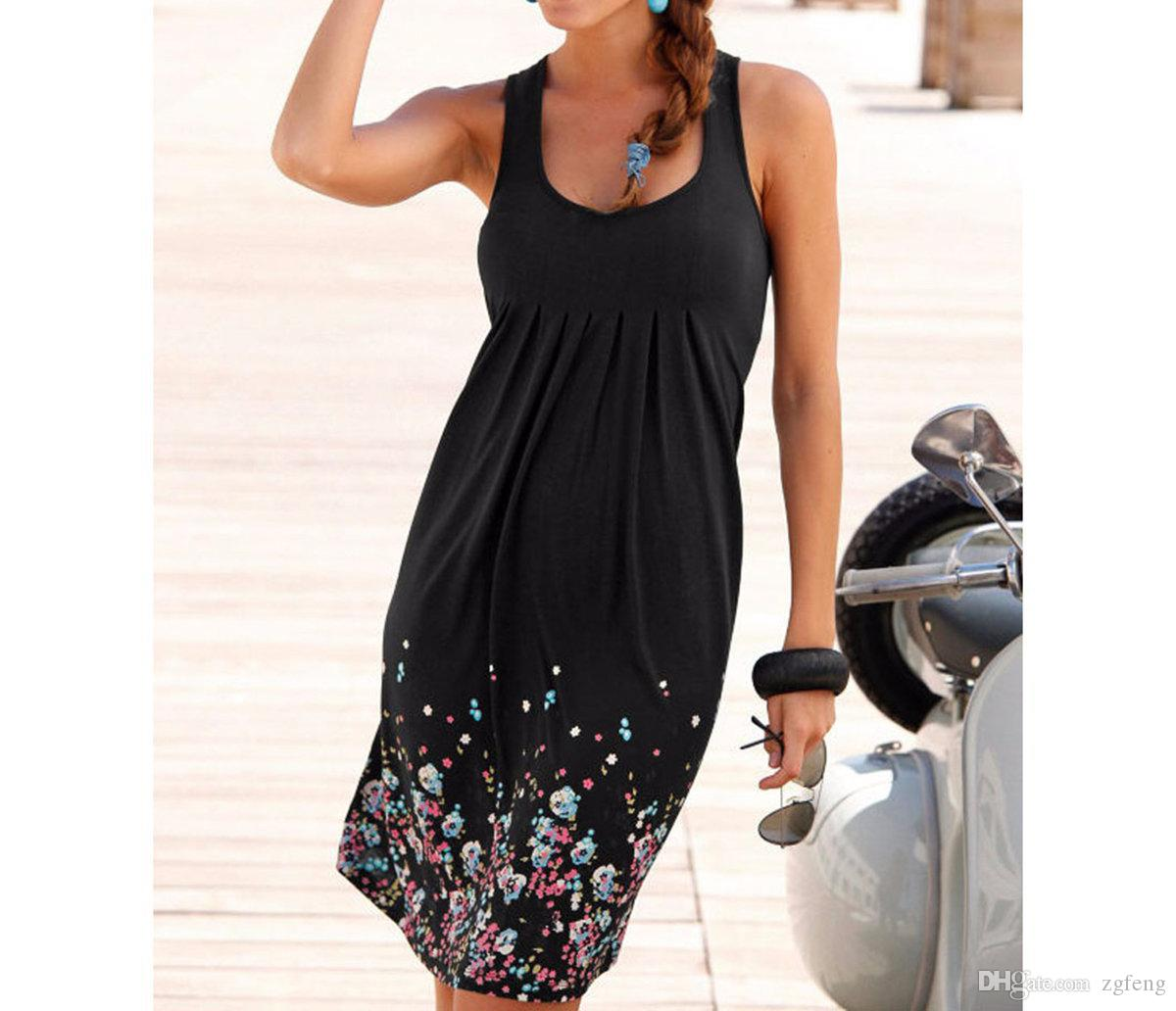 4c99e8d32186a Womens Summer Casual Sleeveless Mini Printed Vest Beach Dresses Hot Sales  Dress,One Can Be Ordered, Backless Dress Dress Shirt From Zgfeng, $10.96|  DHgate.