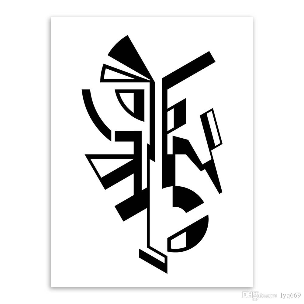 Modern Minimalist Nordic Black White Symbol A4 Large Art Prints Poster Abstract Wall Picture Canvas Painting No Frame Home Decor