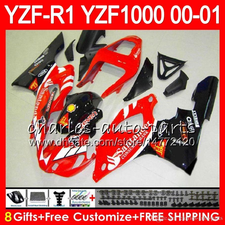 Bodywork For YAMAHA YZF1000 YZF 1000 YZFR1 00 01 98 99 74NO40 Santander re R 1 YZF-R1000 Body YZF-R1 YZF R1 2000 2001 1998 1999 Fairing Kit