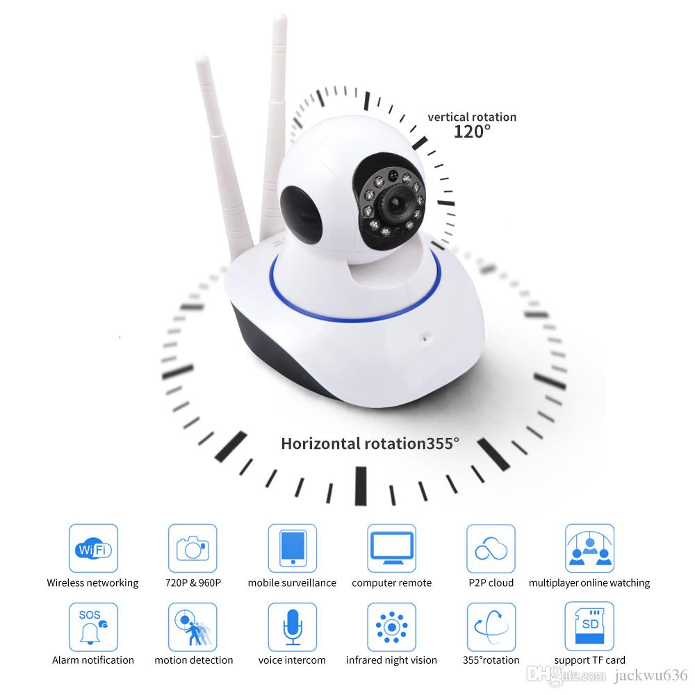 720P wifi dome ip camera P2P WiFi Wireless infrared Onvif Home Security Network Webcam Night Vision 2-way Audio