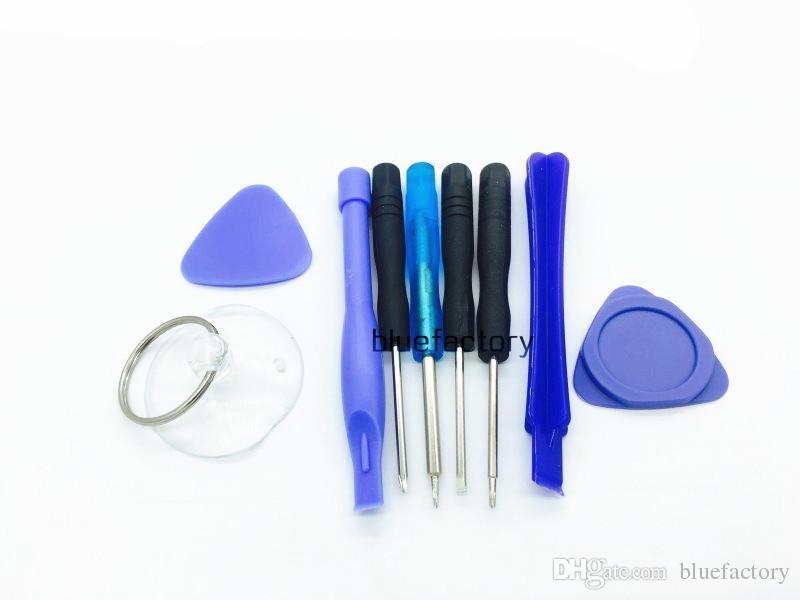 iphone X 9 in 1 Kit di riparazione Sostituzione della leva di apertura Sostituzione Sostituzione Kit di attrezzatura Schermo frontale LCD Obiettivo di vetro Cellulare