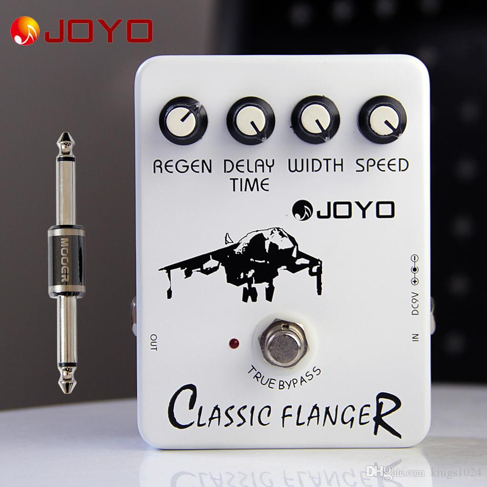 JOYO JF-07 Classic Flanger Guitar Effect Pedal electric bass dynamic compression pedal+MOOER PC-S pedal connector