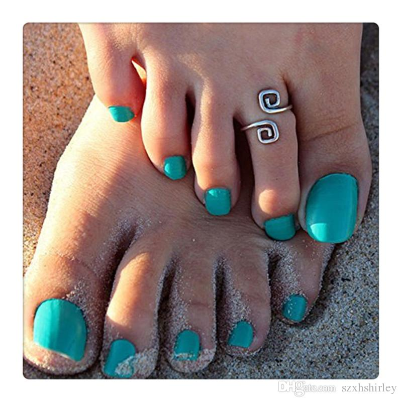 Fashion Jewelry Women Beach Toe Rings Retro Style Luck 8 Words Toe Ring Foot Ring Adjustable Opening Anklets Free Shipping