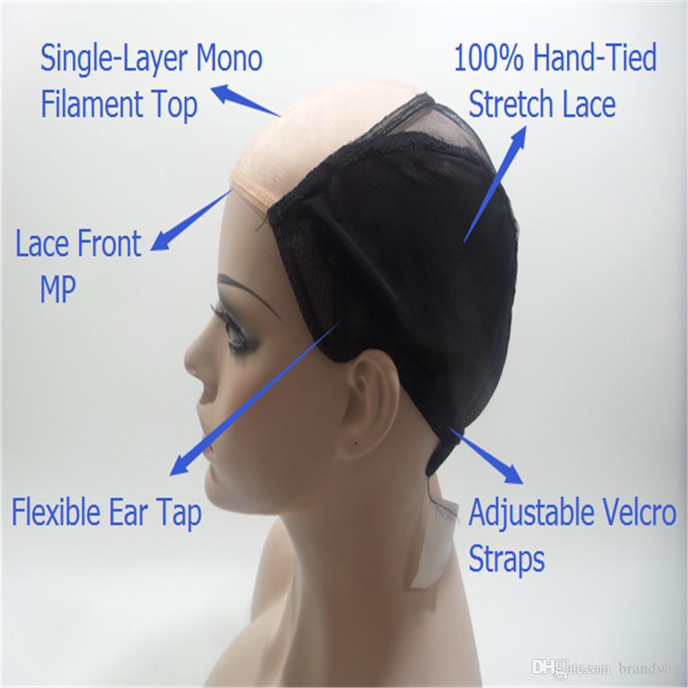 Brasilianisches Jungfrau-Haar 100% Wellenlänge der Hauptkörper-Menschenhaar-Perücke Schwarze Frauen in der vollen Spitze WigTail Weben ist volle SPITZE PERÜCKEN KABELL