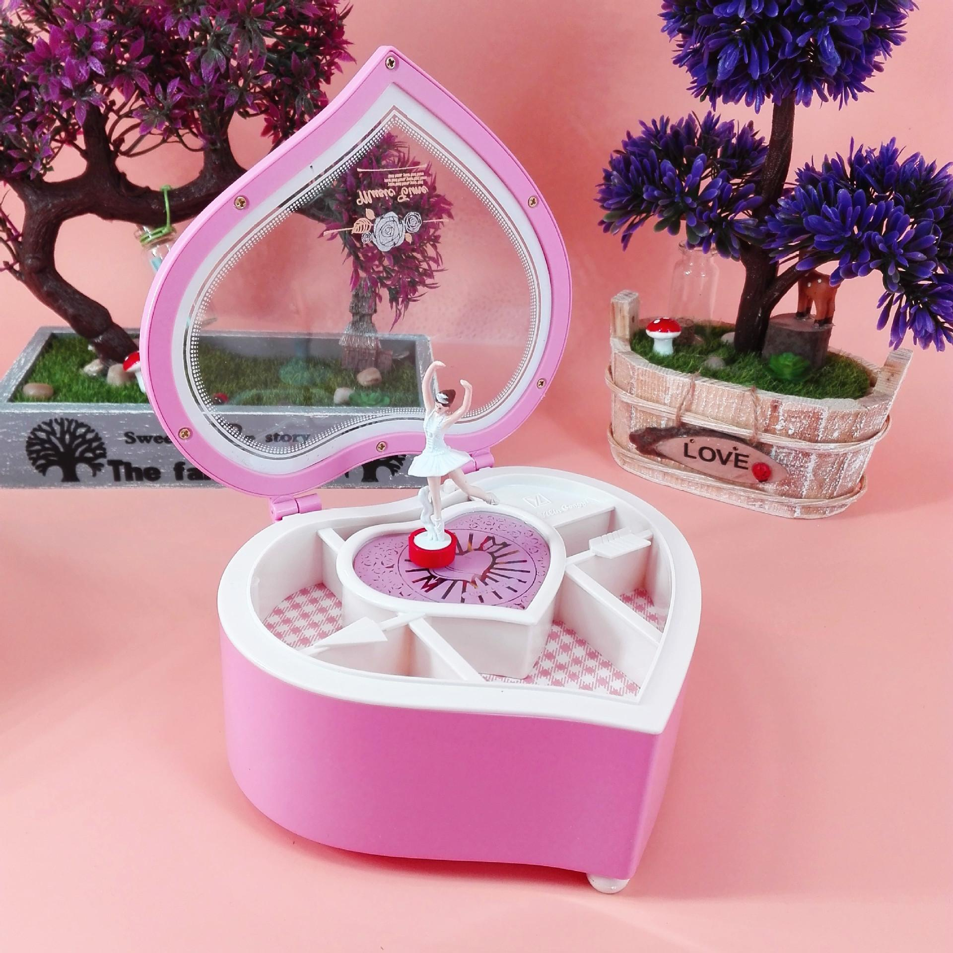 Manufacturers Selling Heart-shaped Music Box Ballet Girl Music Box ...