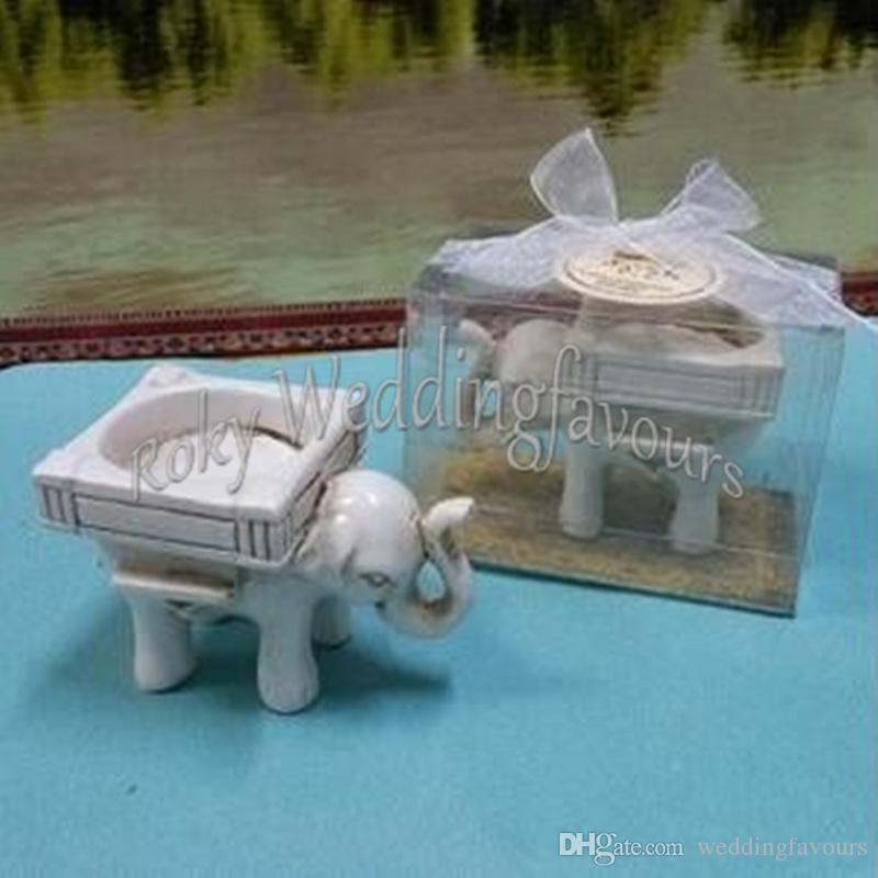 Good Luck Elephant TeaLight Holder without Candle Wedding Favors Pratical Event Gifts Party Decors Ideas