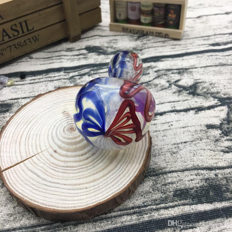 Tubo di vetro a mano di alta qualità a prezzo all'ingrosso uso fumatori 3,7 pollici HP-050